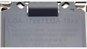 پوشش سوکت سازگار با LGA-17XX / 18XX بصورت آنلاین مشاهده شد – آیا این پردازنده های 7 نانومتری اینتل است؟