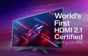 ایسوس از اولین صفحه نمایش با گواهی HDMI 2.1 رونمایی کرد