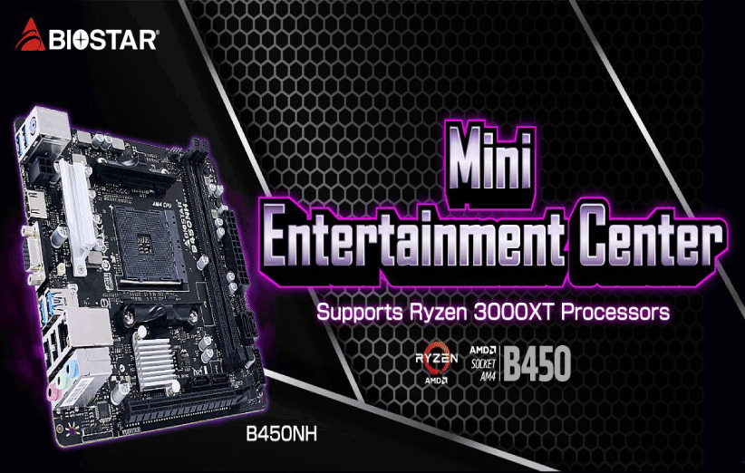 مادربرد B450NH Mini-ITX بایواستار