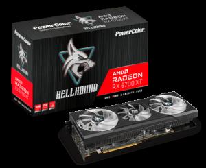 کارت گرافیک پاورکالر مدل hellhound Radeon RX 6700 XT