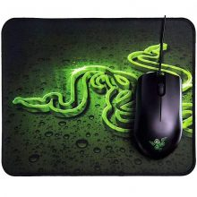 ماوس و پد گیمینگ ریزر مدل Mouse & Pad RAZER Abyssus Lite and Goliathus Mobile Mat