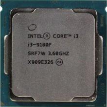 پردازنده اینتل سری Coffee Lake مدل Intel Core i3-9100F Tray
