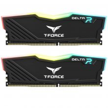 رم دسکتاپ تیم گروپ دو کاناله RAM TEAMGROUP T-Force DELTA RGB DDR4 16G (2x8GB) 3000MHZ CL16