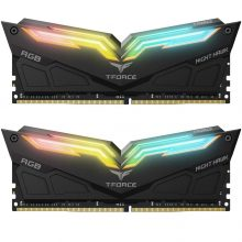 رم دسکتاپ تیم گروپ دو کاناله RAM TEAMGROUP T-Force NIGHT HAWK RGB DDR4 32G (2x16GB) 3200MHZ CL16
