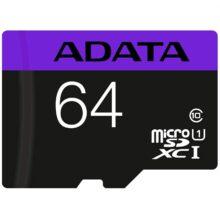 کارت حافظه ای دیتا مدل ADATA Premier micro SDXC/SDHC UHS-I Class 10 64 GB