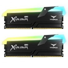 رم دسکتاپ تیم گروپ دو کاناله RAM TEAMGROUP T-Force XCALIBUR RGB DDR4 16G (2x8GB) 3200MHZ CL16