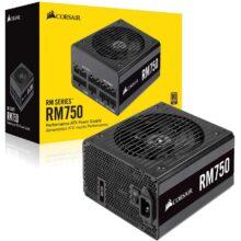 منبع تغذیه کامپیوتر کورسیر مدل RM750 80 PLUS Gold Fully Modular