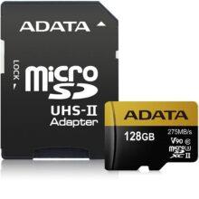 کارت حافظه ای دیتا مدل ADATA Premier ONE  micro SDXC UHS-II Class 10 128 GB