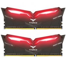 رم دسکتاپ تیم گروپ دو کاناله RAM TEAMGROUP T-Force NIGHT HAWK LED DDR4 16G (2x8GB) 3200MHZ CL16