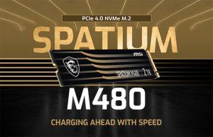 MSI اس اس دی های PCIe نسل چهارم مدل Spatium را معرفی می کند.