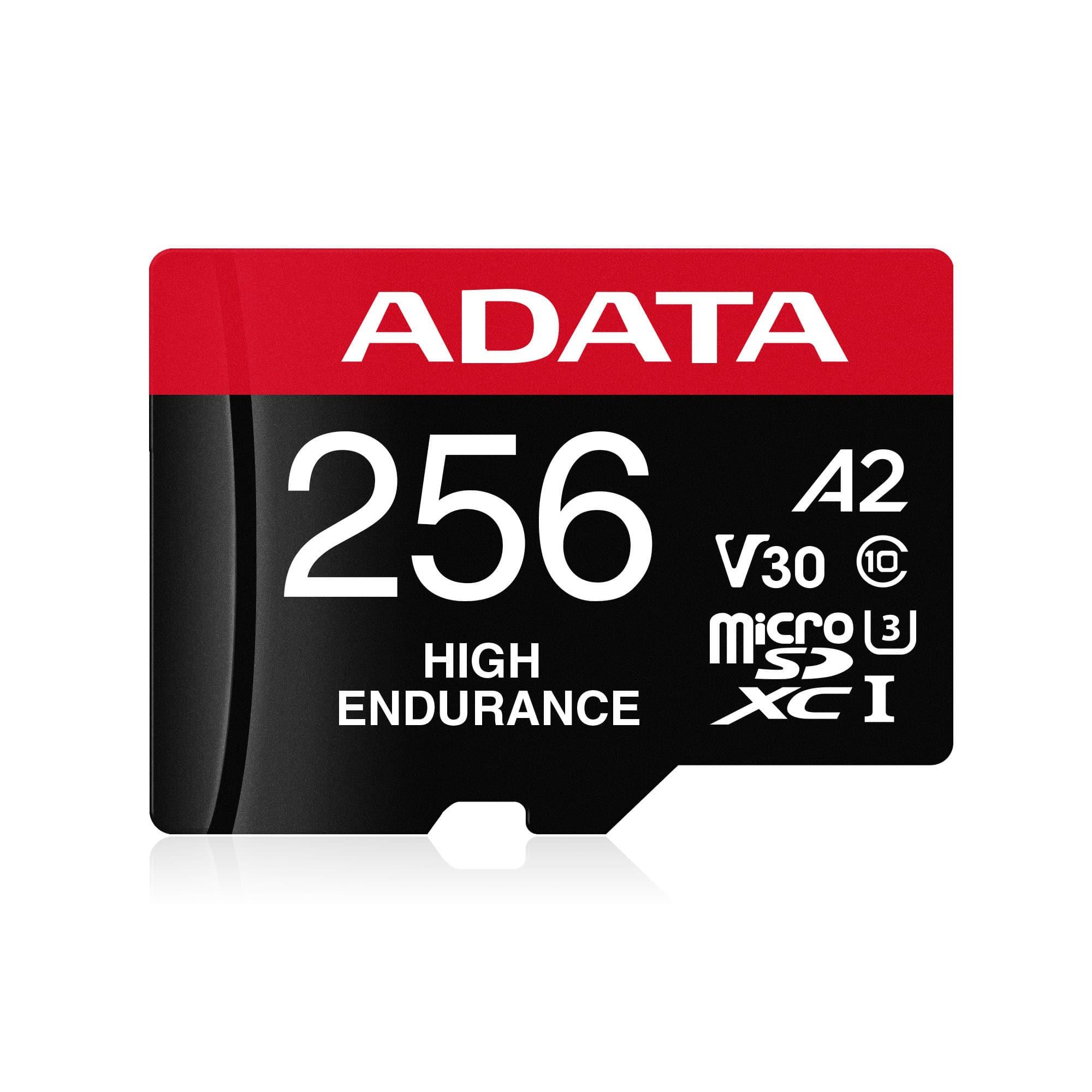 کارت حافظه ای دیتا مدل ADATA High Endurance UHS-I U3 Class 10 256GB